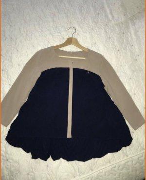 Patrizia Pepe Kopertowa bluzka stary róż-ciemnoniebieski Wiskoza