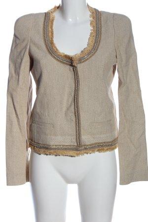 Patrizia Pepe Blazer Tweed marrón look casual