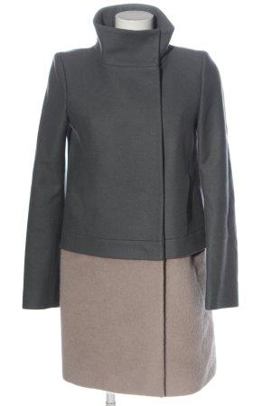 Patrizia Pepe Manteau en laine gris clair-crème style décontracté