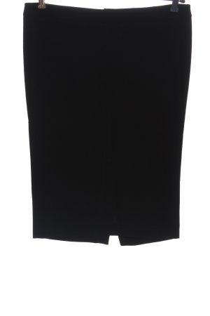 Patrizia Pepe Wool Skirt black striped pattern casual look
