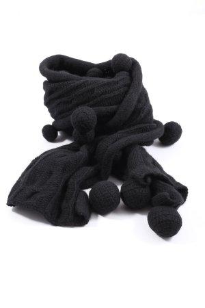 Patrizia Pepe Bufanda de lana negro look casual