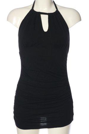 Patty Boutik Top z dekoltem typu halter czarny W stylu casual