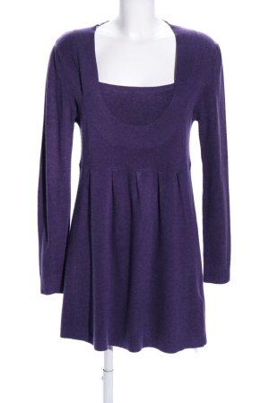 Patty Moon Gebreide jurk lila zakelijke stijl