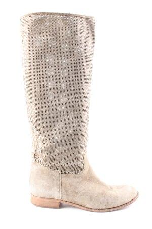 Paul Barritt Bottes plissées blanc cassé style décontracté