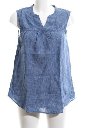 Paul Costelloe ärmellose Bluse blau meliert Casual-Look