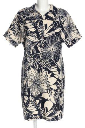 Paul Costelloe Hemdblusenkleid schwarz-creme Blumenmuster Casual-Look