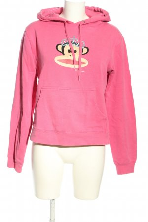 Paul frank Kapuzensweatshirt pink Motivdruck Casual-Look