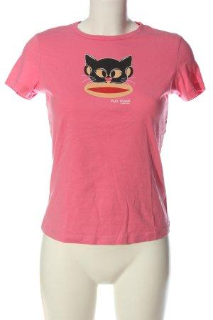 Paul frank T-shirt imprimé rose imprimé avec thème style décontracté
