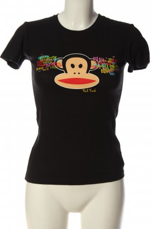 Paul frank Print-Shirt schwarz Motivdruck Casual-Look