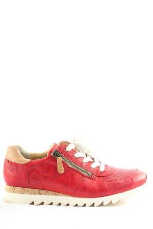 Paul Green Absatz Sneaker rot Casual-Look