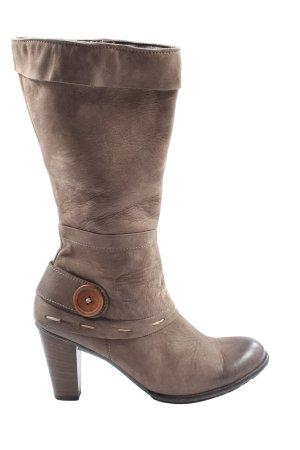 Paul Green Heel Boots brown casual look