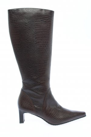 Paul Green Heel Boots brown animal pattern business style