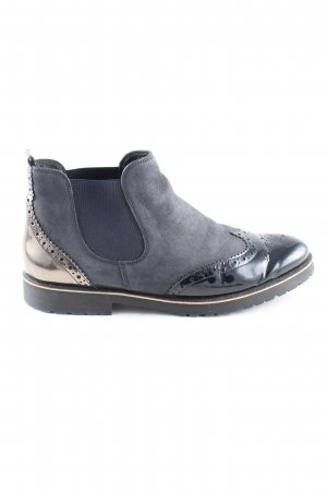Paul Green Ankle Boots blau-goldfarben Business-Look
