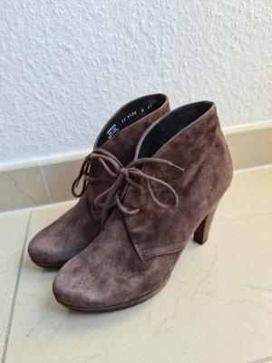 Paul Green Ankle Boots Schnür Stiefeletten hohe Schuhe Absatzschuhe Gr. 37