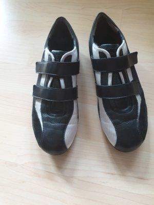 Paul Green Ballerines à lacets blanc-noir