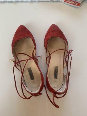 Paul Green Bailarinas con punta rojo oscuro-rojo ladrillo