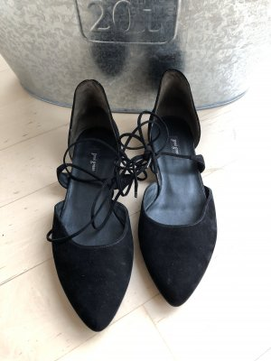 Paul Green Ballerina's met kant zwart