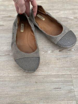 Paul Green Ballerinas Slipper Gr.6,5 40 Leder Nieten Schuhe