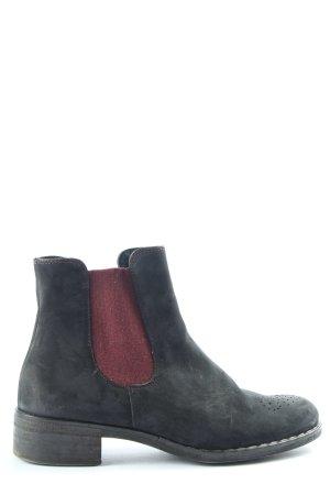 Paul Green Booties schwarz-rot Casual-Look