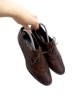 Paul Green München Wingtip Shoes dark brown-black brown leather