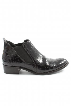 Paul Green Chelsea Boot noir imprimé allover style décontracté