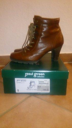 Paul Green Patucos con cordones marrón-coñac
