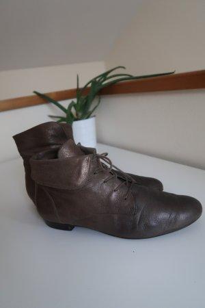 Paul Green Echtleder Stiefeletten Boots Metallic Gr. 40