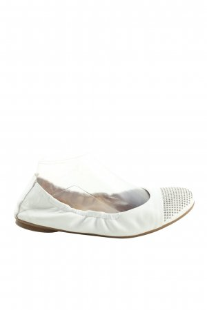Paul Green Bailarinas plegables blanco-color plata estampado a lunares