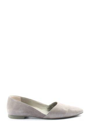 Paul Green Ballerines pliables gris clair style d'affaires