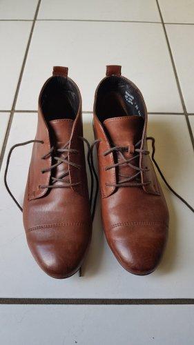 Paul Green Lace Shoes brown-cognac-coloured leather