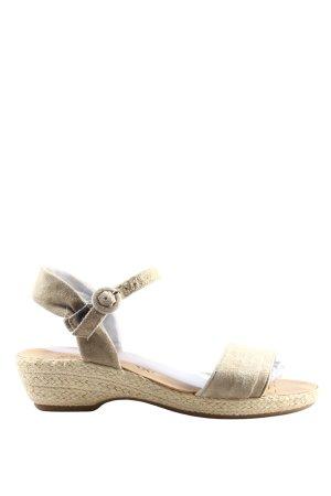 Paul Green High Heel Sandaletten wollweiß-creme Casual-Look