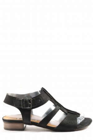 Paul Green High Heel Sandaletten schwarz Casual-Look