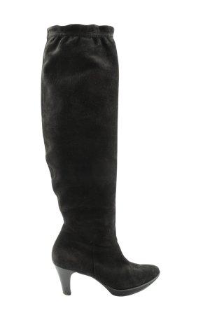Paul Green Wysokie buty na obcasie czarny W stylu casual