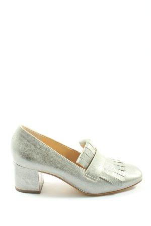 Paul Green High Heels silver-colored elegant