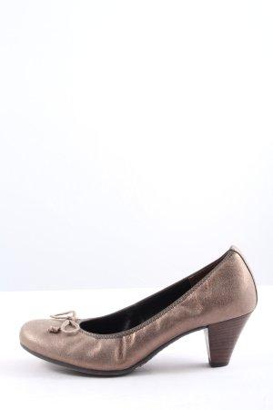 Paul Green High Heels bronzefarben Business-Look