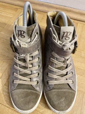 Paul Green München Basket montante gris brun cuir