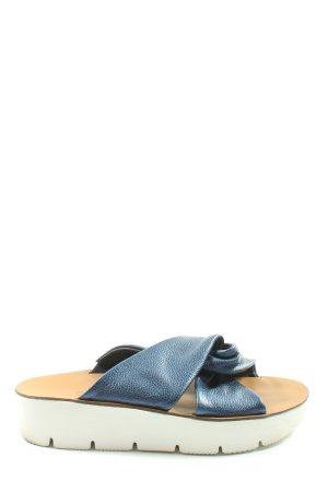 Paul Green Komfort-Sandalen blau-weiß Casual-Look