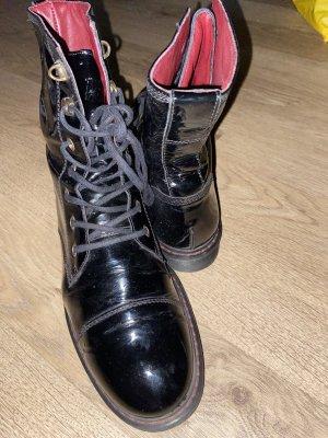 Paul Green Patucos con cordones rojo oscuro-negro Cuero