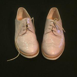 Paul Green Lack Leder Schuhe Budapester Gr.39 kaum getragen Creme Farben