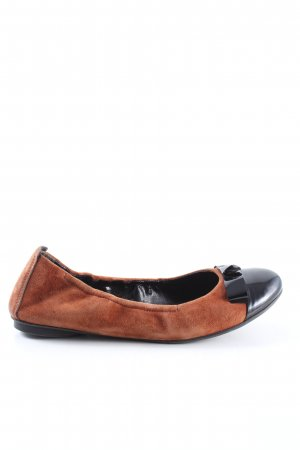 Paul Green Foldable Ballet Flats brown-black casual look