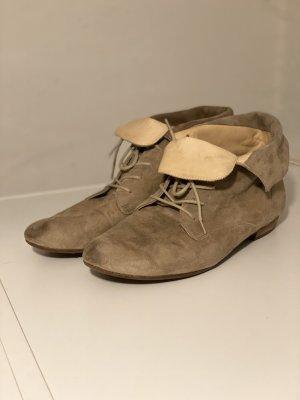 Paul Green Leder Boots Schuhe Gr. 40 Beige grau