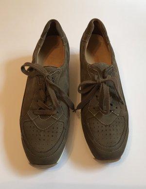 Paul Green Leder Sneaker 39 6 Damenschuhe Halbschuhe Schnürschuhe Erhöhung wNeu!
