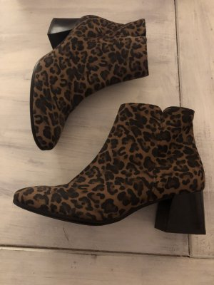 Paul Green Leder Stiefeletten im Leoparden Look neu 149€