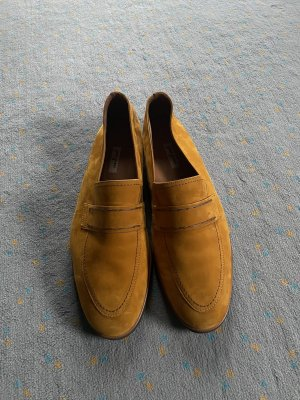 Paul Green Slippers sand brown-gold orange leather