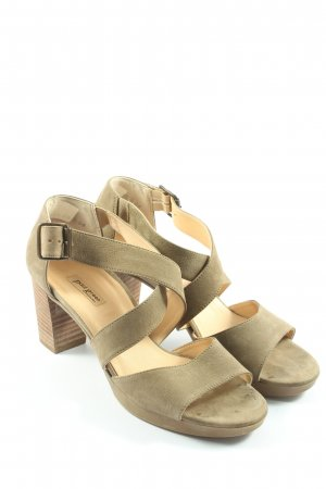 Paul Green München High Heel Sandaletten khaki Elegant