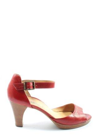 Paul Green München Sandales à talons hauts et lanière rouge