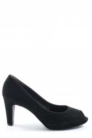 Paul Green Peep Toe Pumps black classic style
