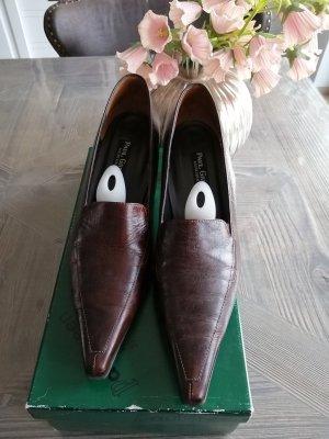 Paul Green Pointed Toe Pumps dark brown