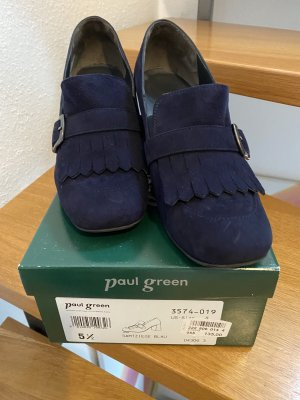 Paul Green High-Front Pumps dark blue leather
