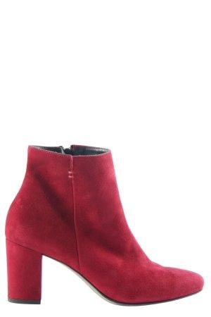 Paul Green Reißverschluss-Stiefeletten rot Casual-Look